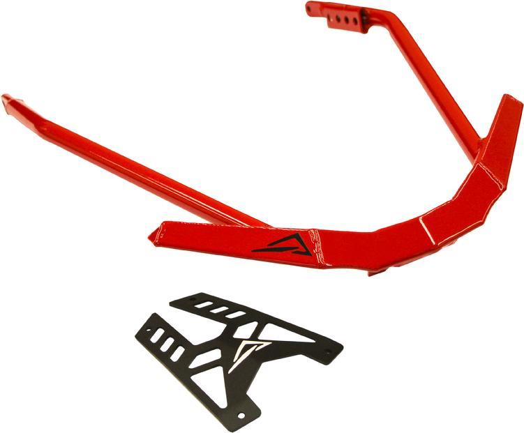 Skinz Protective Gear Rear Bumper for Polaris Pro Flat Black//Red NXPRB200-FBK//RD